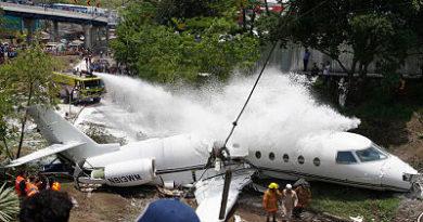 Avión privado sufre accidente en aeropuerto de Tegucigalpa en Honduras