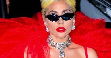 El excéntrico vestido en forma de rosa que Lady Gaga ha lucido para salir a cenar
