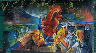 Vándalos dañan bellos Murales de Ciudad Alcaldía llama a autoridades dar con malhechores.