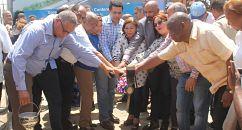 Collado inicia trabajos construcción aceras y contenes del barrio Mejoramiento Social