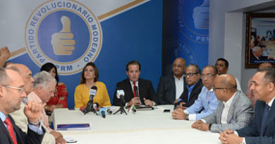 PRM depositará nueva propuesta el lunes ante comisión