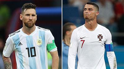 El día en que los dos mejores jugadores del mundo se fueron del Mundial: Las imágenes del dolor de Messi y Cristiano Ronaldo
