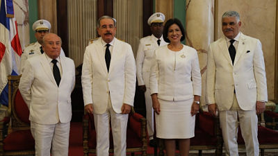 Danilo Medina recibe cartas credenciales nuevos embajadores República Popular China, Panamá, Uruguay, Países Bajos, Chile, Ecuador e Israel