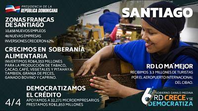 En Santiago trabajamos con el corazón; apoyamos a agricultores y microempresarios y llevamos el 911