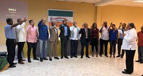 Juramentan directiva de nueva filial de la Cámara de Comercio en el municipio de Guerra