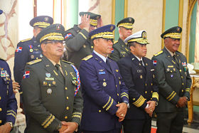 Presidente Danilo Medina juramenta mandos militares designados mediante decretos 315-18 y 316-18