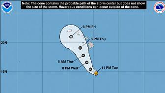 ALERTA:El peligroso huracán Lane alcanza la categoría 5 y se acerca a las islas de Hawái
