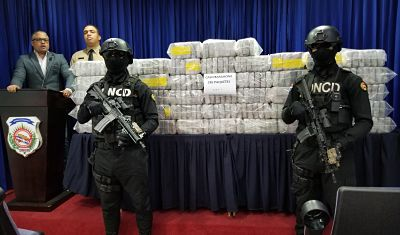 DNCD se incautó 285 paquetes de cocaína