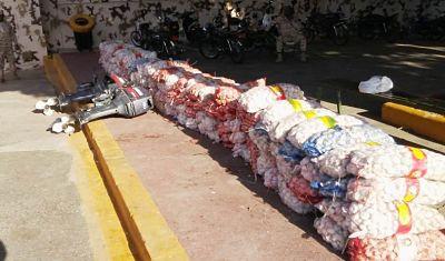 Autoridades decomisan 3 mil 300 libras ajo introducido desde Haití