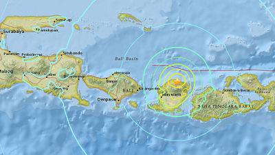 Un terremoto de magnitud 7,0 sacude la isla indonesia de Lombok
