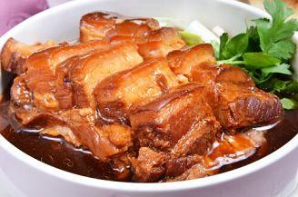Cerdo teriyaki de verduras salteadas y salsa de soja