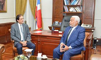 Ministro de la Presidencia, Gustavo Montalvo, se reúne con nuevo presidente Cámara de Diputados
