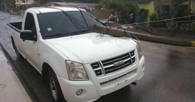Ventarrón y lluvias causan daños en Dajabón
