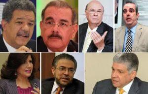Leonel 21.8%, Danilo Medina 18.6%, Abinader 12, según encuesta Gallup