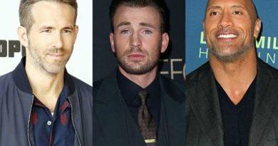 Ryan Reynolds y Dwayne Johnson reaccionaron a la despedida de Chris Evans de Capitán América