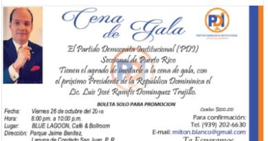 Pagarán $100 dólares por cenar con Ramfis Trujillo en Puerto Rico