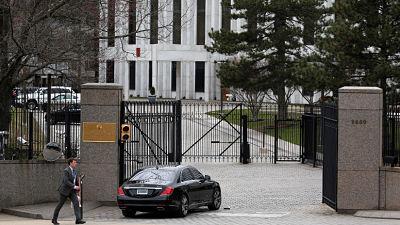 Hallan un paquete sospechoso cerca de la Embajada rusa en Washington D.C.