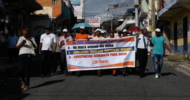 Haineros dicen contaminación está afectando su salud; realizan marcha pacífica