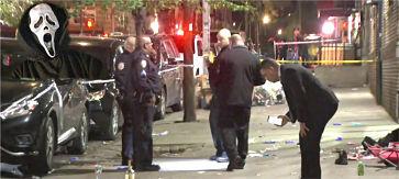 El NYPD busca a tirador enmascarado que hirió a un dominicano y su novia en Halloween