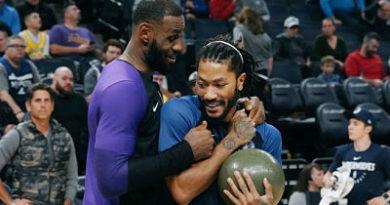 """LeBron James se rinde a los 50 puntos de Derrick Rose: """"Es un superhéroe"""""""