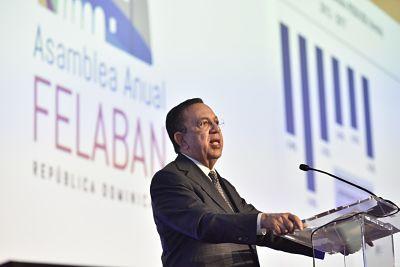 En su exposición ante la 52 Asamblea Anual de FELABAN, el gobernador del BCRD destacó la fortaleza de los fundamentos macroeconómicos