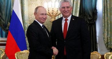 Miguel Díaz-Canel invita a Vladímir Putin a visitar Cuba en 2019