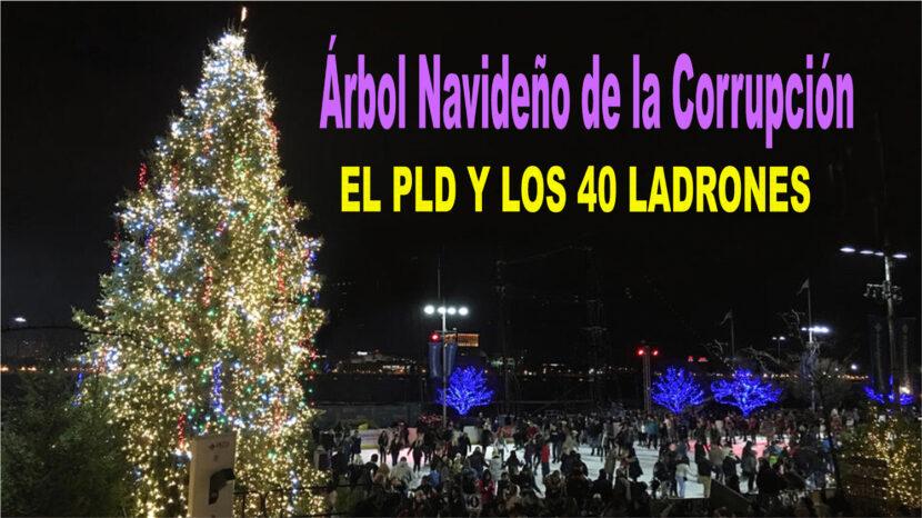 Partidos encenderán árbol navideño de la corrupción en Plaza Las Américas este domingo