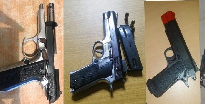 Policía ocupa armas de fuegos en negocios de bebidas alcohólicas en SDE