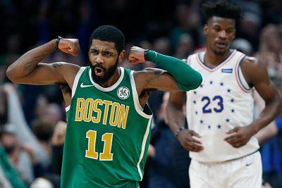 Kyrie Irving pudo más que Embiid y los Celtics ganan con discreto aporte de Horford