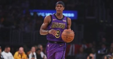 Otra baja para los Lakers: Rajon Rondo fuera de 4 a 5 semanas por lesión