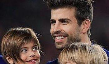 Milan y Sasha hicieron de las suyas durante el más reciente partido de Piqué