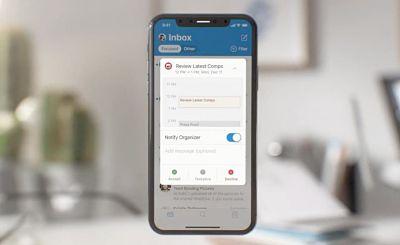 Así es el nuevo diseño de Outlook en los iPhone