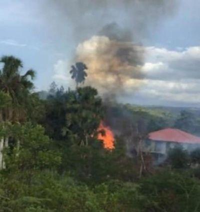 Residentes en Monción y Cacique denuncian humareda del vertedero, causa enfermedades
