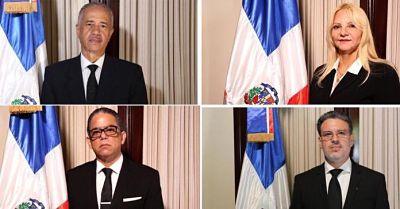 Los perfiles de los cuatro nuevos jueces del TC elegidos por el CMN