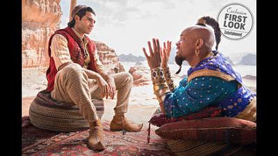 """""""Aladino"""": Will Smith se luce como el genio de la lámpara en primeras fotos oficiales"""