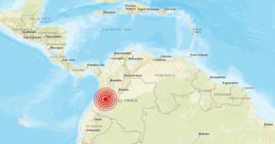 Un sismo de magnitud 5,4 se registra en Colombia