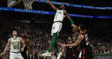 Los Celtics dieron un golpe encima de la mesa al batir 117-108 a los Toronto Raptors