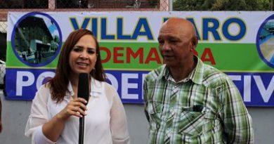 Karen Ricardo apoya solicitud de construcción Polideportivo de Villa Faro