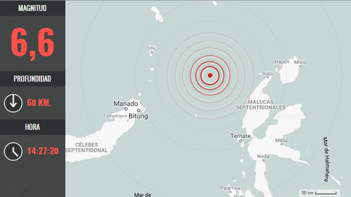 Sismo de gran intensidad sacude este domingo a Indonesia