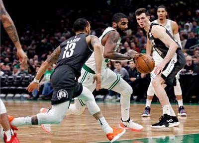 Al Horford 12 puntos e Irving 17 en regreso con Celtics, que derrotan a Nets