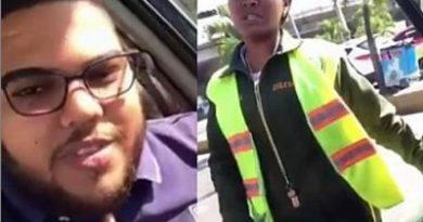 LO HACE PUBLICO: Joven que insultó a una agente Digesett pide disculpas