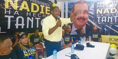 Movimiento político El Pueblo Manda recluta cientos de personas para repostular al presidente Danilo Medina 2020