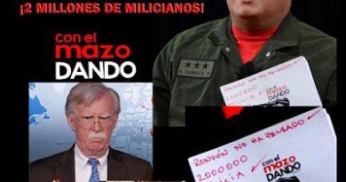 """""""2.000.000 en milicia, listos"""": Diosdado Cabello responde al polémico apunte de Bolton"""