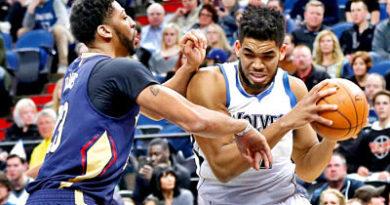 Towns y Wiggins conducen triunfo de Timberwolves