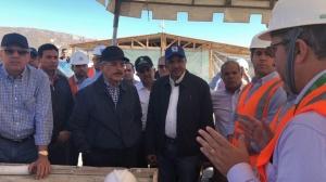 """Se """"riega"""" Danilo durante visita sorpresa en Barahona, le querían cambiar la fecha de entrega presa Monte Grande"""