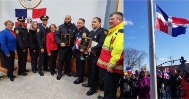 Consulado en Boston reconoce policías, bombero, legislador y dominicanos