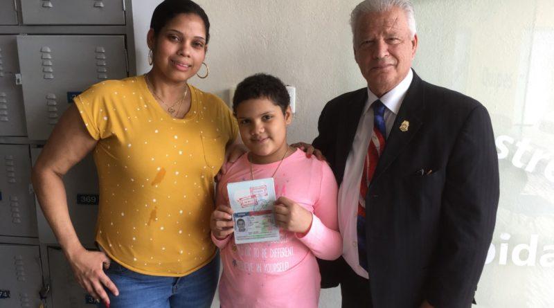 Consulado otorga visa múltiple a niña dominicana con leucemia para tratamiento en Nueva York