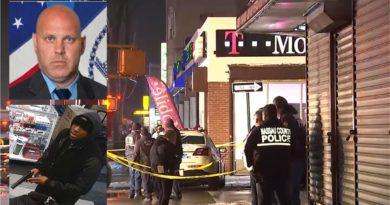 Detective del NYPD fue asesinado y un sargento herido por compañeros durante atraco en una tienda T - Mobile en Brooklyn
