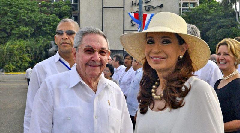 Cristina Kirchner se reúne en Cuba con Raúl Castro