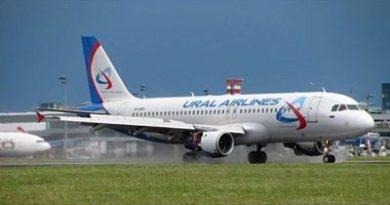 Avión ruso aterriza de emergencia en Bakú por falso aviso de bomba